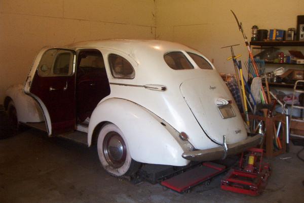 1939 Hupmobile Senior Six Rear Garage