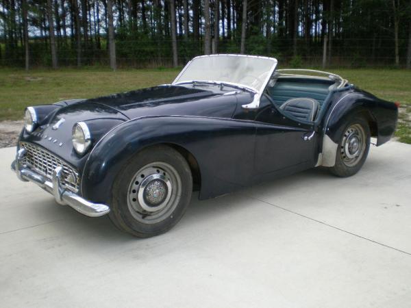 1961 Triumph Tr3 Garage Find Front