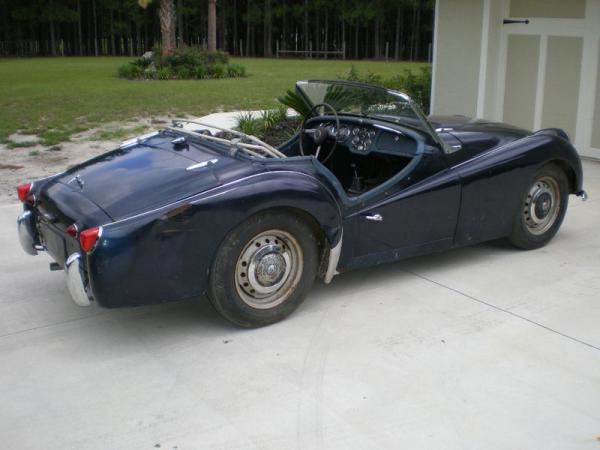 1961 Triumph Tr3 Garage Find Rear