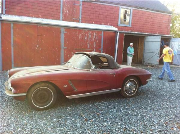 1962 Corvette Outside Of Barn