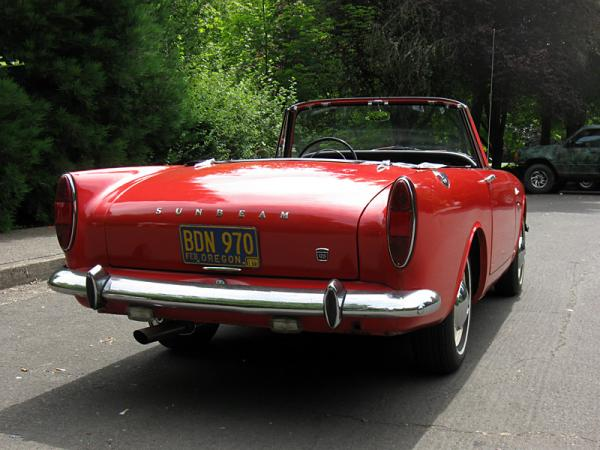 1967 Sunbeam Alpine Rear