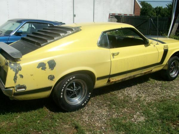 1970 Ford Mustang Boss 302 Rear Corner