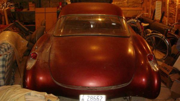 Beige 1957 Chevrolet Corvette Rear
