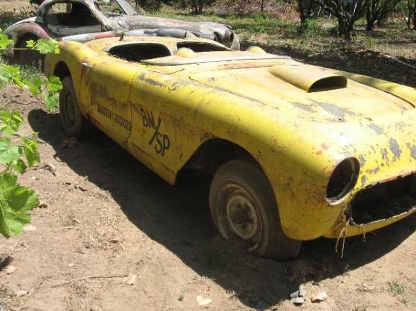 Ex-Drag Car: 1957 Corvette