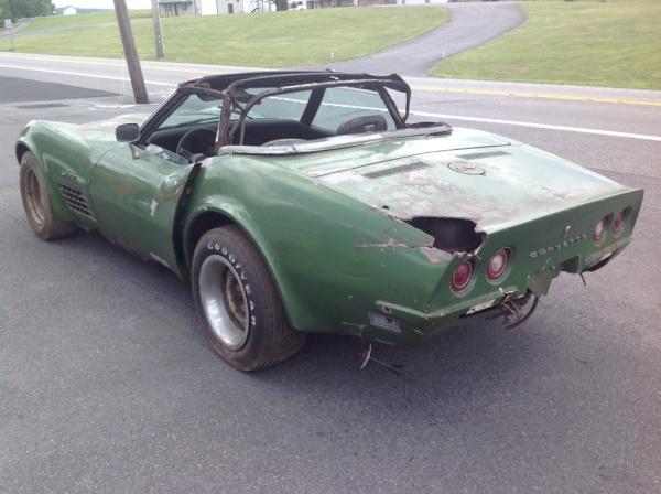 Parts Car Or Project 1972 Corvette Convertible